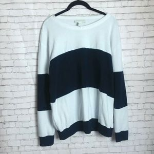 FOREVER 21 color block striped sweatshirt